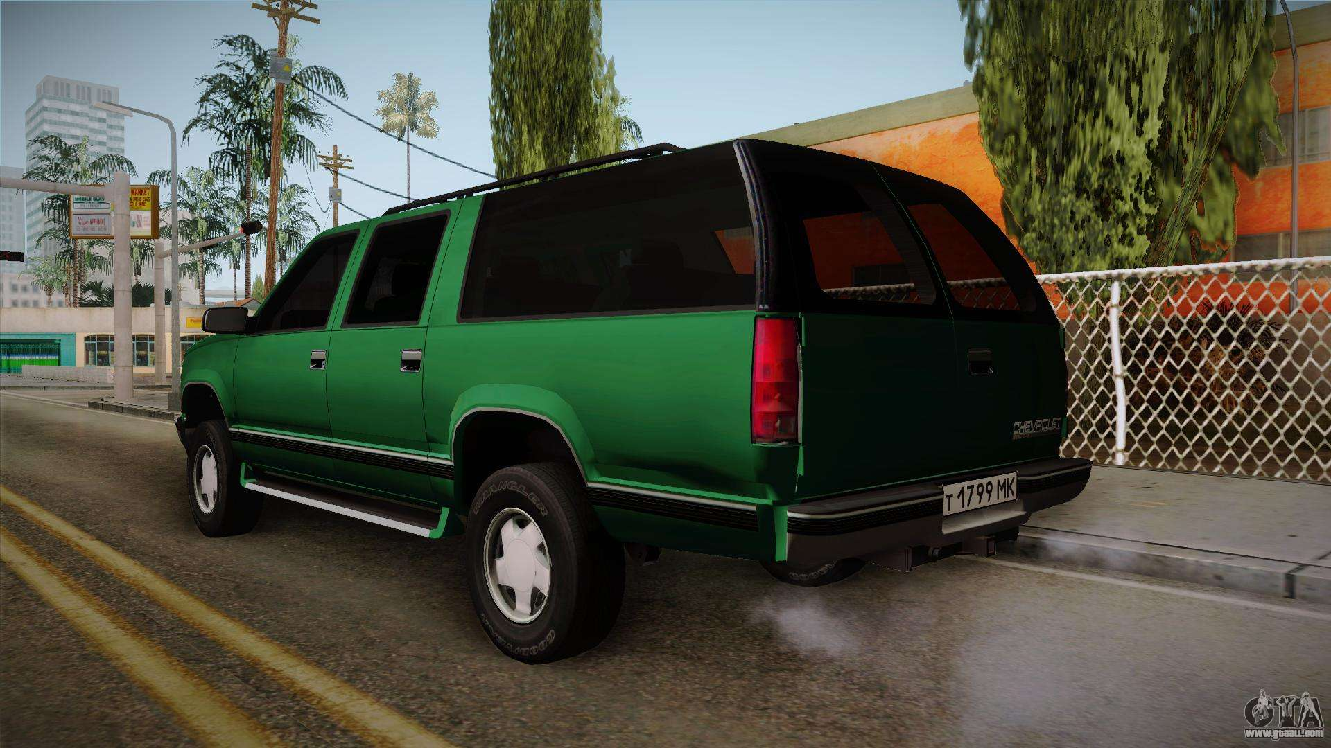 Chevrolet suburban gmt400 1998 for gta san andreas right view