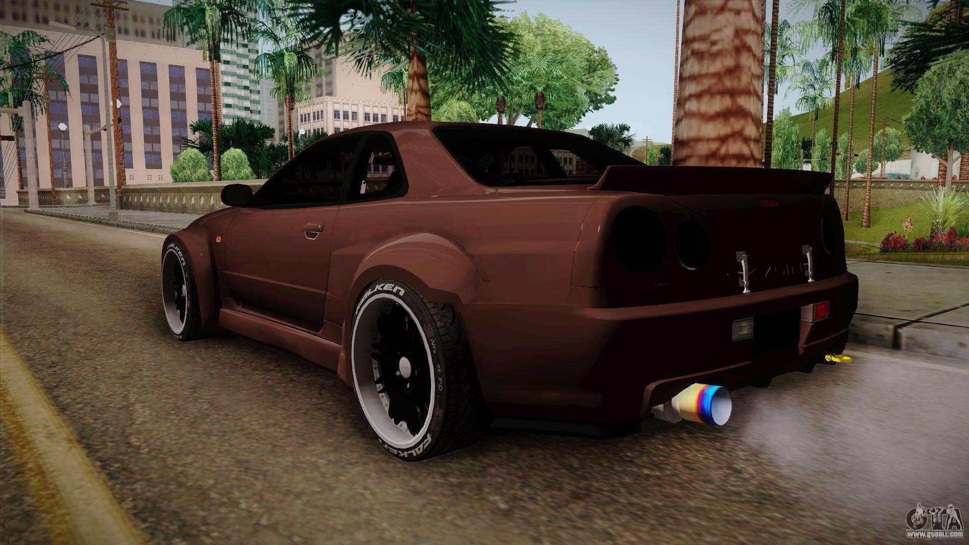 Nissan Skyline Gt R R34 Rocket Bunny For Gta San Andreas