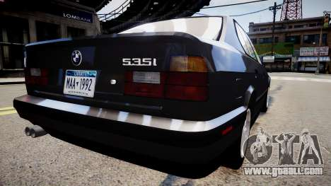 BMW 535i E34 ShadowLine v.3.0 for GTA 4 left view