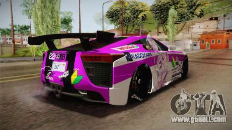 Lexus LFA Emilia The Purple of ReZero for GTA San Andreas right view