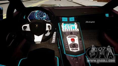 Lamborghini Aventador TRON Edition for GTA 4 inner view