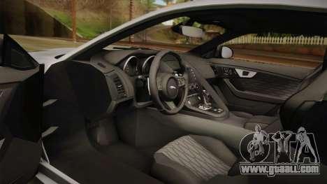 Jaguar F-Type SVR 2016 for GTA San Andreas inner view