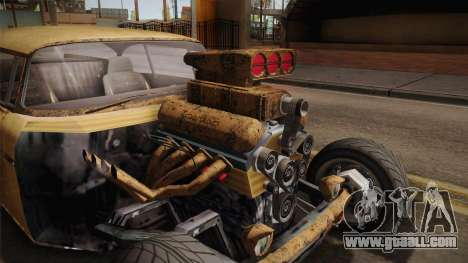 GTA 5 Declasse Tornado Rat Rod for GTA San Andreas inner view