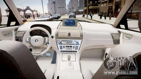 BMW X3 2.5Ti 2009 for GTA 4 inner view