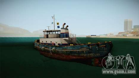 GTA 5 Buckingham Tug Boat for GTA San Andreas left view