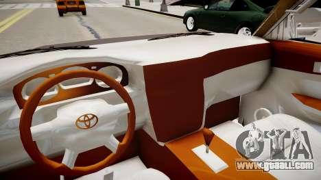 Toyota Land Cruiser VXR 1999 for GTA 4 inner view
