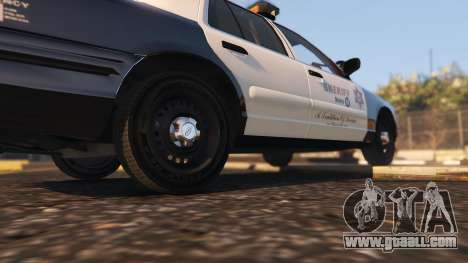 GTA 5 Ford Crown Victoria P71- LA Co. Sheriff 1999 rear right side view