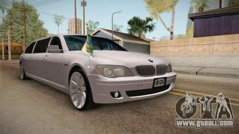 BMW E66 7-Series Limousine for GTA San Andreas right view