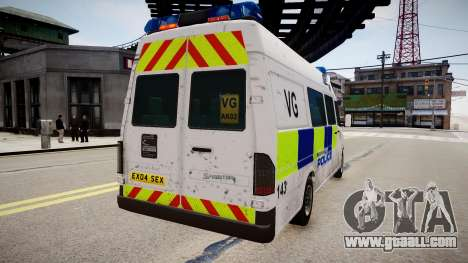 Mercedes-Benz Sprinter Police for GTA 4 left view
