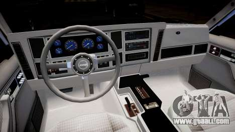 Jeep Cherokee 1992 for GTA 4 inner view