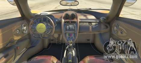 GTA 5 Pagani Huayra 2012 rear left side view