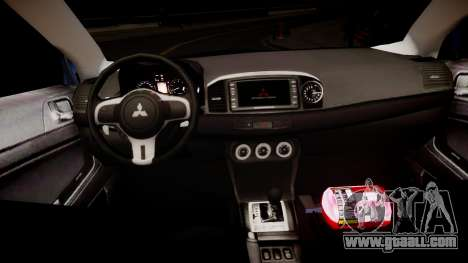 Mitsubishi Evolution X 2009 v2.0 for GTA 4 inner view