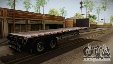 GTA 5 Log Trailer v1 IVF for GTA San Andreas back left view
