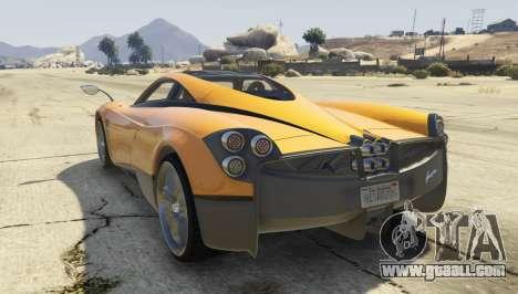 GTA 5 Pagani Huayra 2012 left side view