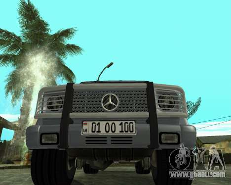 Mercedes Benz G500 Armenian for GTA San Andreas bottom view