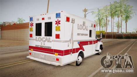 Chevrolet C4500 2008 Ambulance for GTA San Andreas back left view