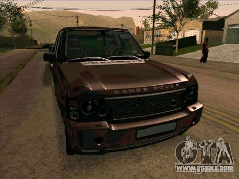 Range Rover Sport 2008 for GTA San Andreas bottom view