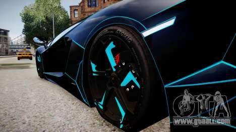Lamborghini Aventador TRON Edition for GTA 4 back view