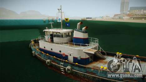 GTA 5 Buckingham Tug Boat for GTA San Andreas side view