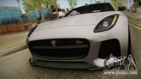 Jaguar F-Type SVR 2016 for GTA San Andreas right view