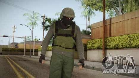 GTA Online Military Skin Green-Verde for GTA San Andreas