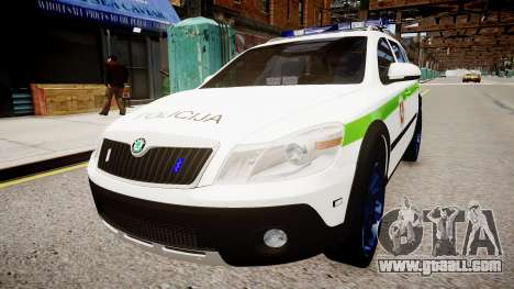 Lithuanian Police Skoda Octavia Scout for GTA 4 right view