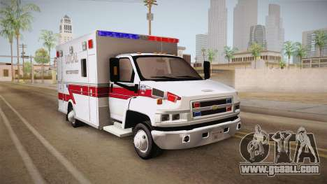 Chevrolet C4500 2008 Ambulance for GTA San Andreas right view