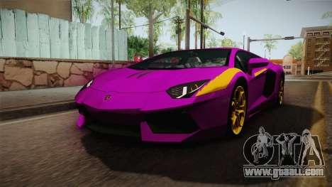 Lamborghini Aventador The Joker for GTA San Andreas right view
