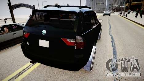 BMW X3 2.5Ti 2009 for GTA 4 back left view
