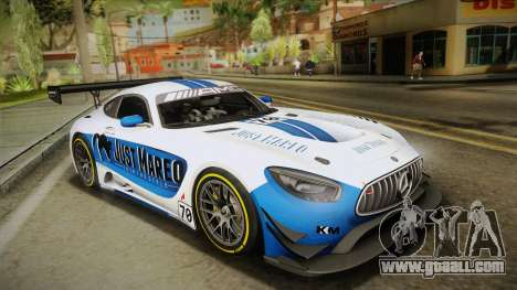 Mercedes-Benz AMG GT3 2016 for GTA San Andreas engine