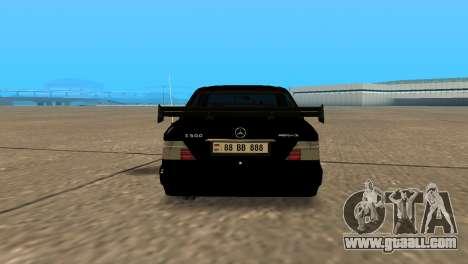 Mersedes-Benz E500 W124 Armenia for GTA San Andreas back left view