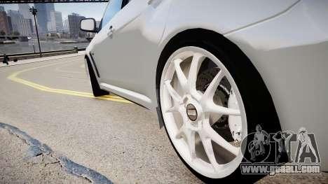 Mitsubishi Evolution X 2009 v2.0 for GTA 4 back view