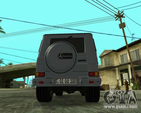 Mercedes Benz G500 Armenian for GTA San Andreas upper view