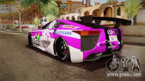 Lexus LFA Emilia The Purple of ReZero for GTA San Andreas left view