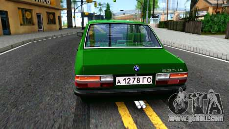 BMW 535i E28 for GTA San Andreas back left view