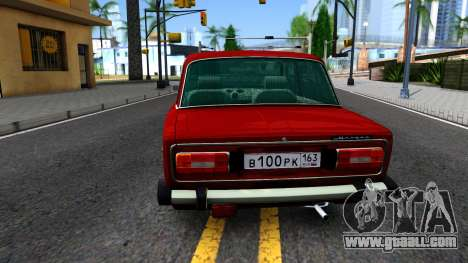VAZ 2106 Resto for GTA San Andreas back left view