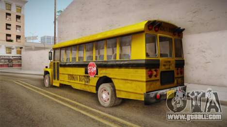Driver Parallel Lines - School Bus for GTA San Andreas left view