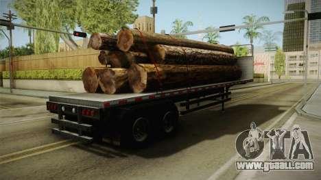 GTA 5 Log Trailer v3 for GTA San Andreas back left view