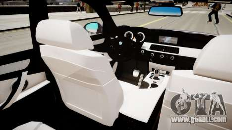 BMW M5 E60 2009 for GTA 4 inner view