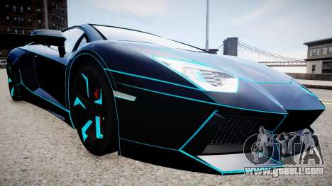 Lamborghini Aventador TRON Edition for GTA 4 right view