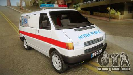 Volkswagen T4 Ambulance for GTA San Andreas