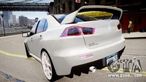 Mitsubishi Evolution X 2009 v2.0 for GTA 4 left view