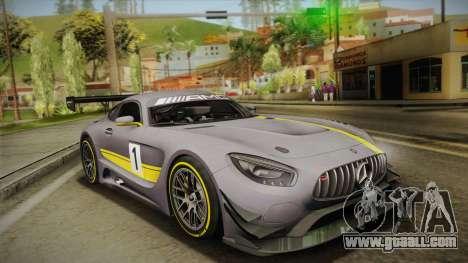 Mercedes-Benz AMG GT3 2016 for GTA San Andreas interior