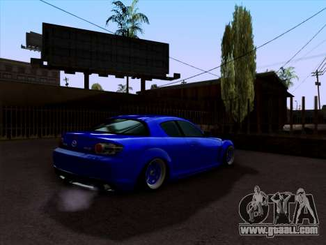 Mazda RX-8 for GTA San Andreas back left view
