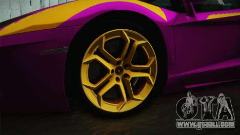 Lamborghini Aventador The Joker for GTA San Andreas back view