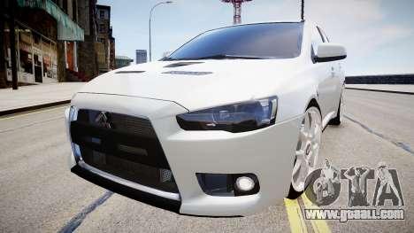 Mitsubishi Evolution X 2009 v2.0 for GTA 4 back left view
