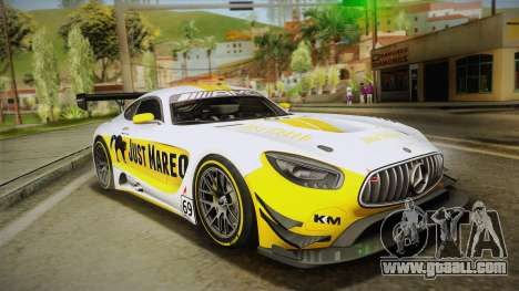 Mercedes-Benz AMG GT3 2016 for GTA San Andreas bottom view