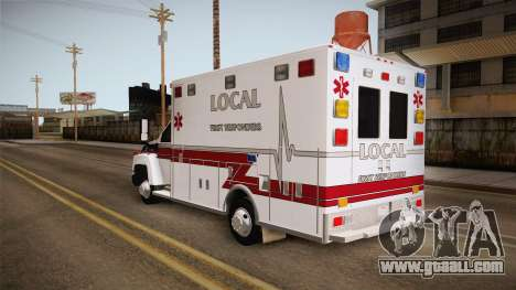 Chevrolet C4500 2008 Ambulance for GTA San Andreas left view