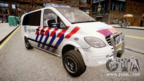 Mercedes-Benz Vito 115 CDI Dutch Police for GTA 4 right view