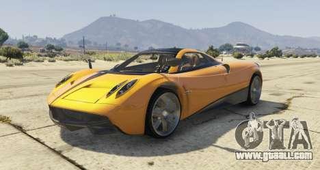 Pagani Huayra 2012 for GTA 5